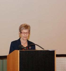 Dr. Irmgard Seidel beim Vortrag